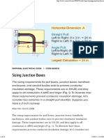 Sizing Junction Boxes