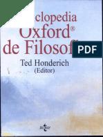 Honderich Ted - Enciclopedia Oxford de Filosofia