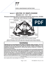 Scott Air-Pak X3 SCBA, 2013 Compliant