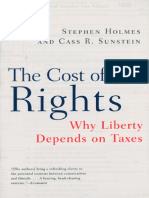 Stephen Holmes, Cass R. Sunstein, Cass Sunstein-The Cost of Rights_ Why Liberty Depends on Taxes-W. W. Norton & Company (1999)
