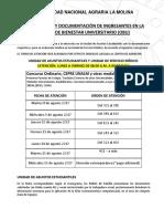 Documentos a presentar UNALM 2017 II