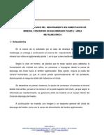 Informe Avance Mejoramiento de Humectación Refino Aglomerado