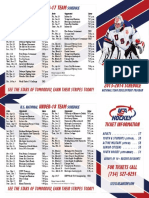 pocket schedule