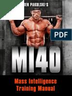 Mi 40 Training Manualy