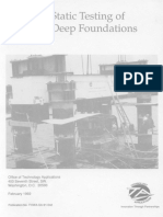 Testing of Deep Foundations