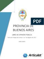 Libro de Opinión Pública - Provincia de BA Agosto 2017