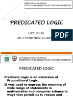 5 Predicated Logic