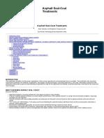 Asphalt Seal-Coat Treatments
