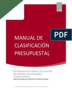 Versión AP Manual de Clasificación Presupuestal Min Hacienda Colombia 2008