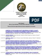 Fauquier Supervisors 8 10 2017 Agenda