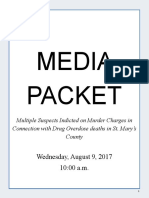 Press Conference - Media Packet - Six Alleged Drug Dealers Charged in Connection with Overdose Deaths of Customers