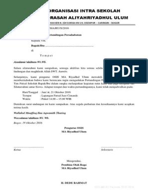 Contoh Surat Undangan Pertandingan Persahabatan Futsal Antar