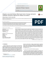 Adaptive Unscented Kalman Filter Based State of Energy and Power Capability Estimation Approach for Lithium-ion Battery