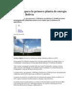 Centrales Hidroelectricas y Eolicas
