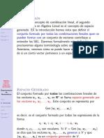 Algebra Lineal Espacio Generado Definicion