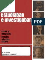 Como Estudiaban Marx Engels Lenin Stalin Mao