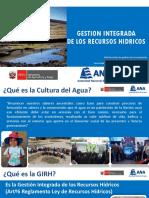 Cultura Del Agua en GIRH