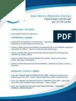 Cv Alex Henrry Palomino Encinas - Ing. Estructural