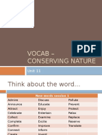 Vocab - Conserving Nature