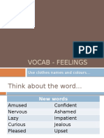 Vocab - Feelings