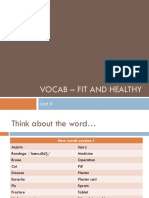 Vocab - Fit and Healthy