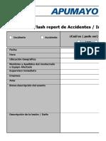 Formato Flash Report