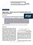 Wood waste - carbon source for Polyhydroxyalkanoates (PHAs) production