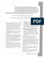 learning trajectories for math