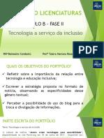 PASSO A PASSO PORTFÓLIO LICENCIATURAS B II