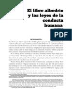 Libre Albedrío y Las Leyes de La Conducta Humana(1)