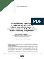 Características y Tipologías de La Investigación en Ciencias
