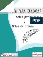 Guia Para Elaborar Notas Periodisticas y Notas de Prensa