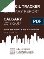 Council Tracker Summary Report Calgary 2013 2017