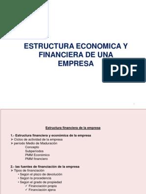 Estructura Económica Y Financiera De Una Empresa Bancos