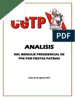 Análisis del Mensaje de Fiestas Patrias de PPK