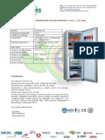 Refrigeradora Solar de 176 Litros