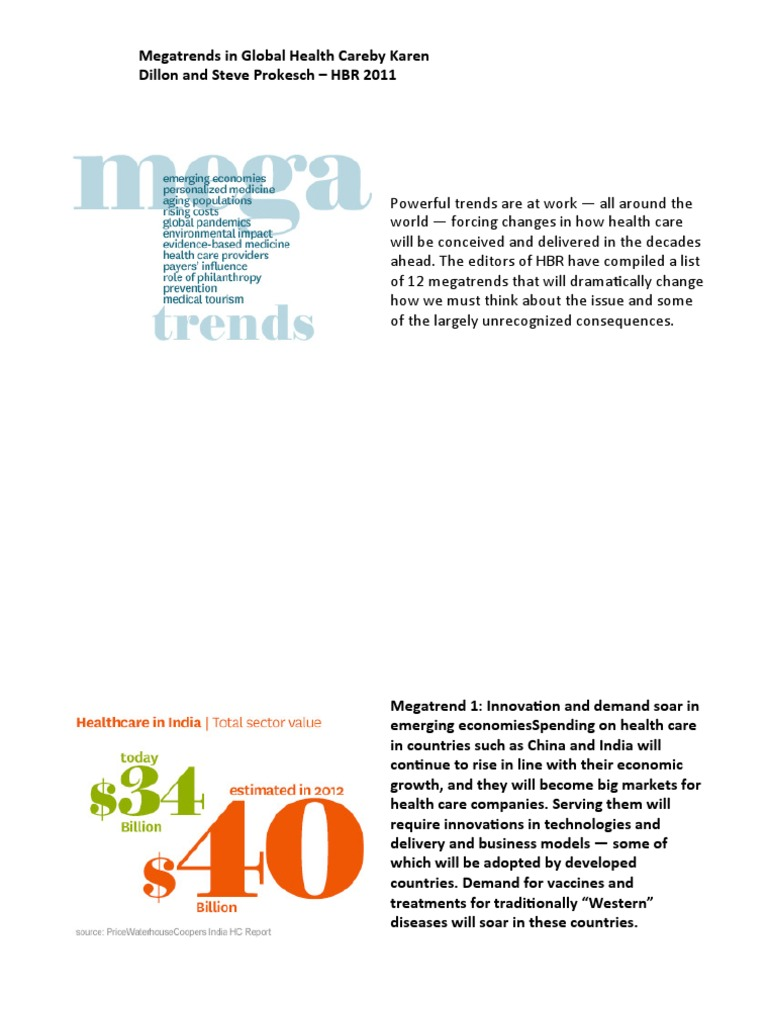 Healthcare Megatrends - HBR | Chronic Condition | Health Care
