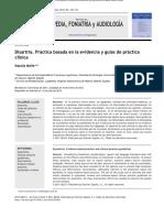 Disartria. Práctica Basada en La Evidencia y Guías de Prática Clínica