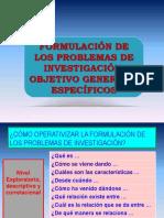 Formulación Del Problema y Objetivos