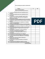 Lista de Cotejo Para Evaluar Cuestionarios