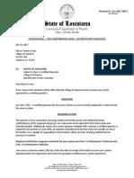 LDH Sewer Violation