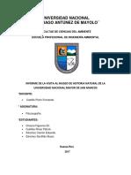 Informe Del Museo de Historia Natural