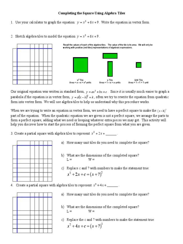 How To's Wiki 88: how to complete the square algebra 2