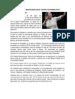 Personajes Destacados en El Teatro Guatemalteco