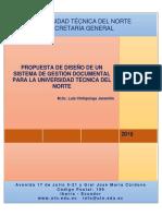 Propuesta Diseño Sistema Gestión Documental-SG-UTN