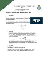 Examen Final de Maquinas 2 -Aldo Renato Cuzquén Tirado