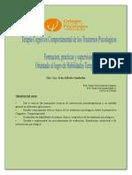 Curso Terapia Cognitiva Comportamental de Los Trastornos Psicologicos