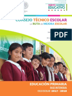 CONSEJO TÉCNICO ESCOLAR LA RUTA DE MEJORA ESCOLAR. MOMENTO PARA CONSOLIDAR ESTE ESPACIO DE LOS MAESTROS. EDUCACION PRIMARIA FASE INTENSIVA CICLO ESCOLAR 2017-2018