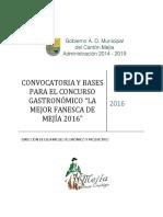 Convocatoria y Bases Para El Concurso Gatronomico de La Mejor Fanesca de Mejia 2016 1