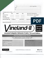 Vineland II Escala Español